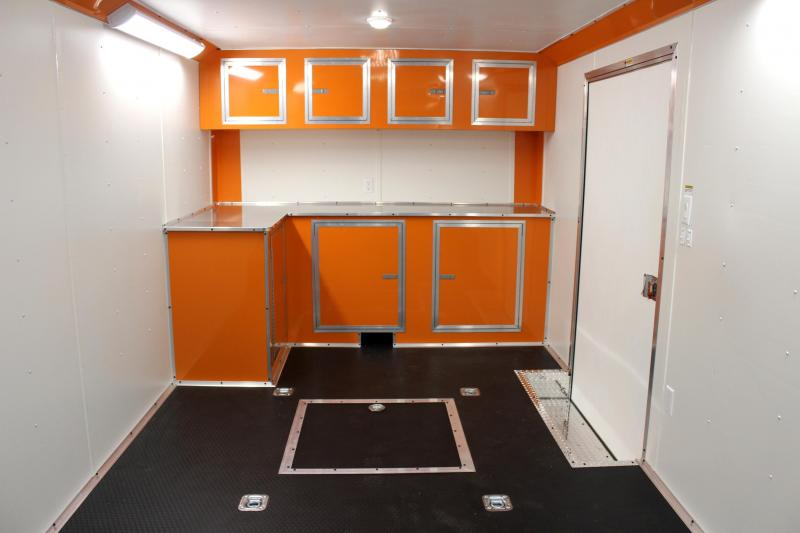 2019 28' Millennium Thunderbolt Enclosed Trailer Orange Cabs/ Orange Cove /6K Axles
