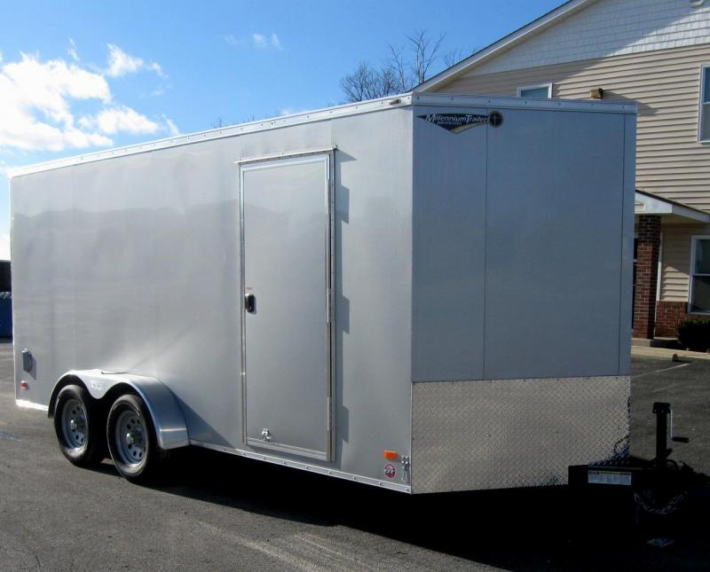 2017 7'x16' Scout Enclosed Cargo Trailer with Plus Pkg.