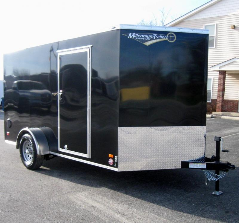 <b>Free Upgrades!</b> 2019 7' x 12' Scout Enclosed Cargo w/Plus Pkg. Torsion Axle Upgrade w/Brakes
