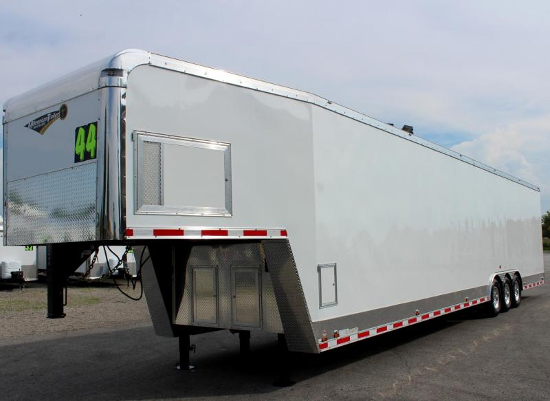 NOW READY Dragster Pkg. Now Available 2020 Loaded 44' Millennium Auto Master Enclosed Gooseneck Race Trailer