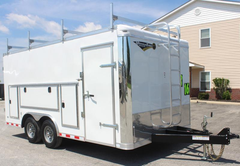<b>BLOWOUT SALE</b> Contractor's Dream Trailer  8.5 x 16' 2020 Millennium Work Mate Enclosed Cargo Trailer