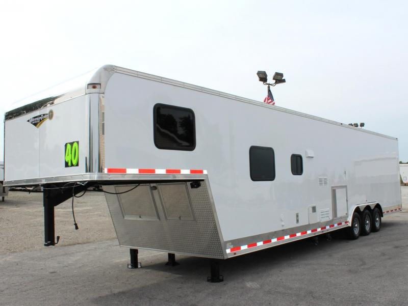 2019 40' Millennium Silver Enclosed Gooseneck Race Car Trailer w/12'XE Living Quarters