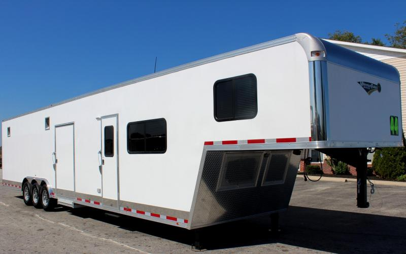 <b>Now Ready!</b> 2019 44' Millennium Enclosed Gooseneck Race Trailer w/12'XE+8' Living Quarters