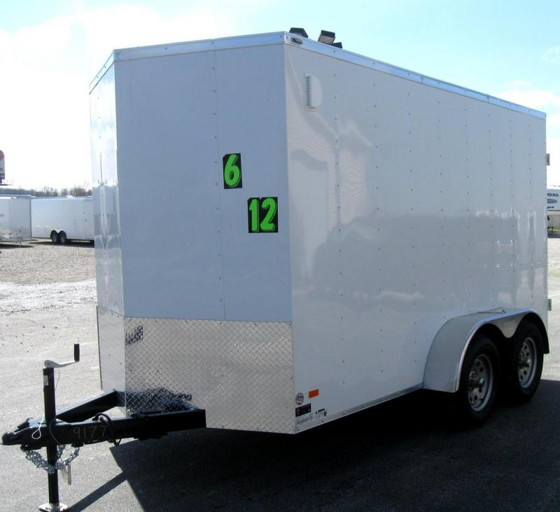 2018 Tandem Axle 6'x12' Scout Enclosed Cargo with Double Doors