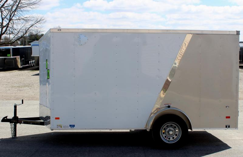 2018 6'x12' Hornet Enclosed Cargo Trailer Two Tone Ramp Door