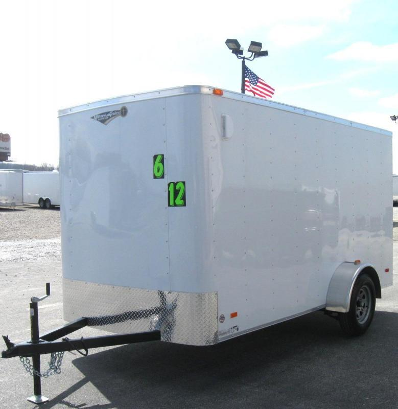 2018 6'x12' Hero Economy Enclosed Cargo Trailer with Ramp Door