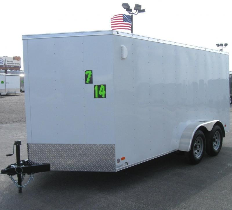 2018 7'x14' Hero Budget Enclosed Cargo Trailer w/Ramp Door