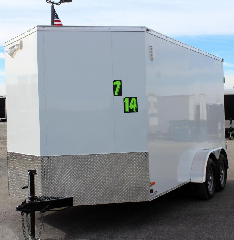 7'x14' Scout Screwless Cargo with Double Doors FREE OPTIONS