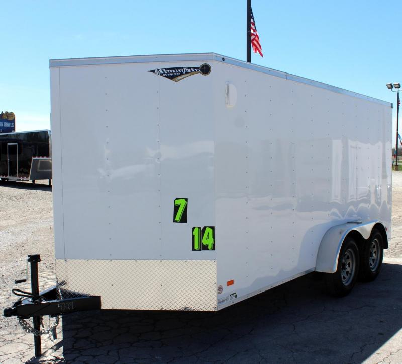 2019 7'x14' Hero Budget Enclosed Cargo Trailer w/Ramp Door