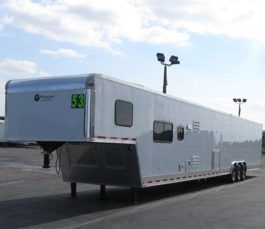 2018 53' Millennium Silver 16' Bunk Living Quarter Trailer