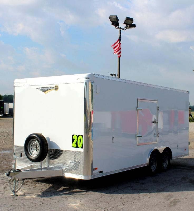 <b>HOT SUMMER DEAL SAVE $4000 OFF MSRP REDUCED TO $10999</b> 2019 20' All Aluminum Star Enclosed Trailer Cargo Doors
