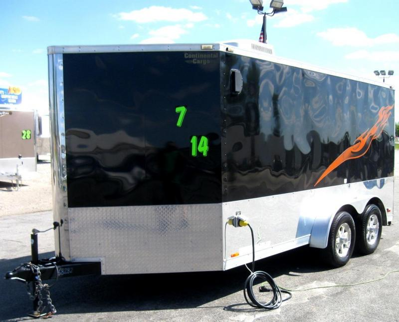 USED 2012 Continental Cargo Tailwind Motorcycle Trailer