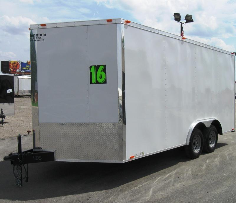2017 8.5x16 Millennium Chrome Enclosed Trailer