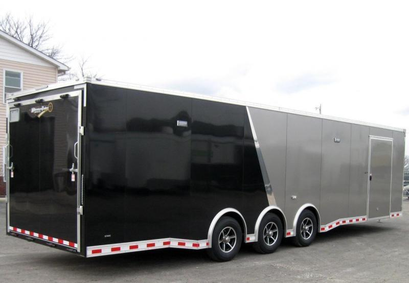 2018 ALL ALUMINUM 32' NEW Millennium Extreme Pewter w/Black Cabinets