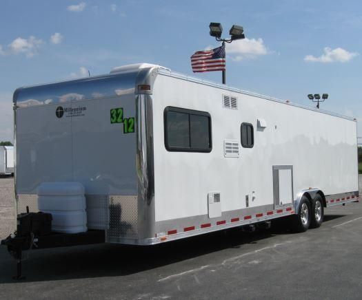 2016 32' Millennium Trailers Living Quarters Enclosed Trailer