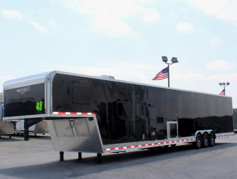 <b>Now Available</b> 2019 Black 48' Millennium Silver 12'XE Living Quarters Trailer 28' Garage Area
