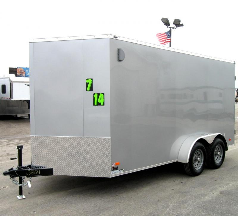 """2019 7'x14' Scout Cargo with Plus Pkg. 6"""" Ext High Cargo Doors PLUS Free Upgrades"""