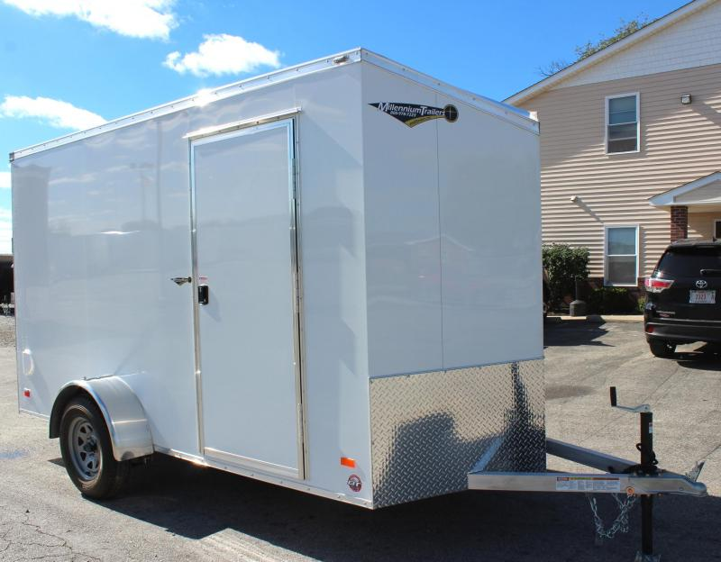 Internet Special  REDUCED SAVE $1000 off MSRP NOW $4899 2019 6' x 12' All Aluminum Scout Cargo Trailer w/Free Upgrades Alum Wheels & Ramp Door