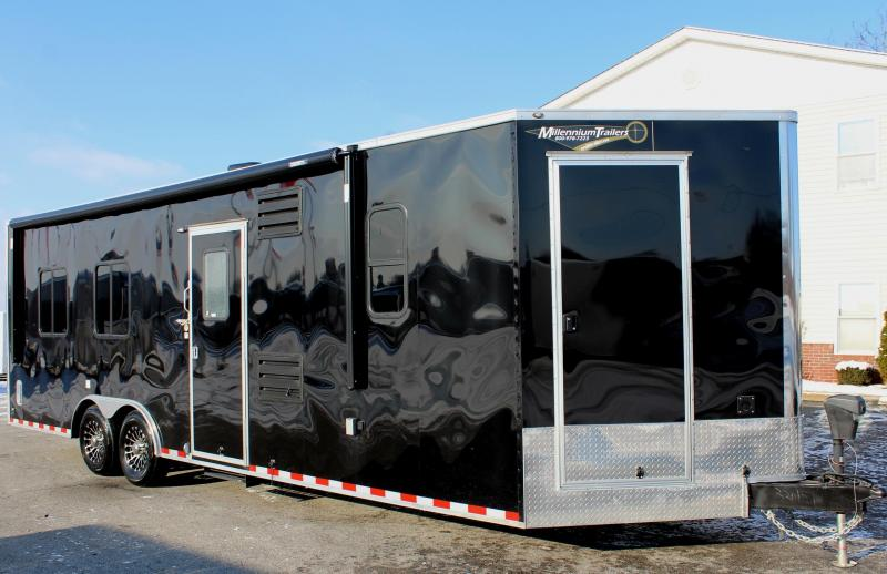 2019 26' Millennium Auto Master Enclosed Trailer Toy Hauler w/Living Quarters w/Weather Pro Electric Awning