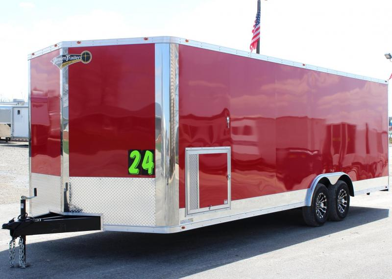 <b>TRAILER OF THE DAY #3  SAVE $3600 OFF MSRP NOW $14999</b> 2018 24' Millennium Silver V Nose Front & Loaded Interior w/Gold Pkg.