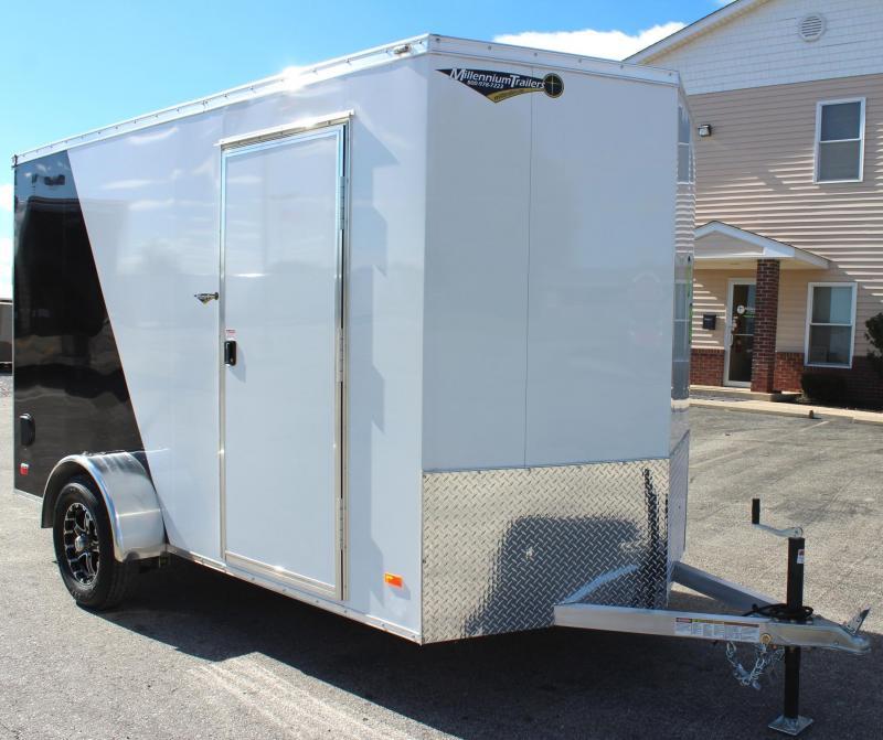 2019 6' x 12' All Aluminum Scout Enclosed Cargo Trailer w/Free Upgrades Alum Wheels & Ramp Door