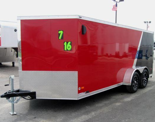 <b>BLOW-OUT SALE NOW $6499 SAVE $1780</b> 2016 7' x 16' Low Rider Motorcycle Trailer  No Further Discounts