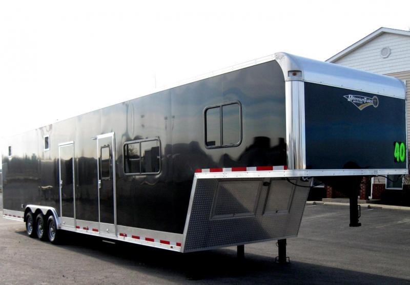 <b>SALE PENDING MEGA BLOW-OUT SALE ONLY $38699 SAVE $5495 OFF MSRP</b> 2018 40' Millennium Silver 12'XE Living Quarter Trailer