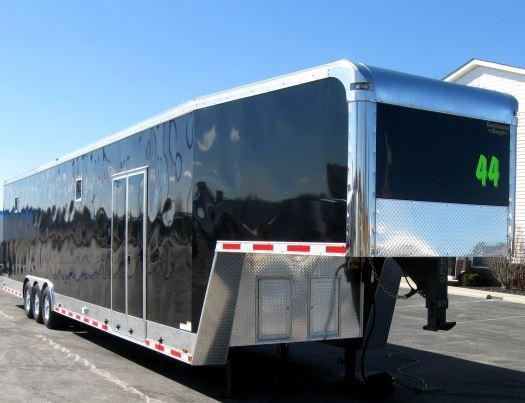 NOW READY Dragster Pkg. 2020 44' Millennium Trailers Gooseneck Tapered Nose