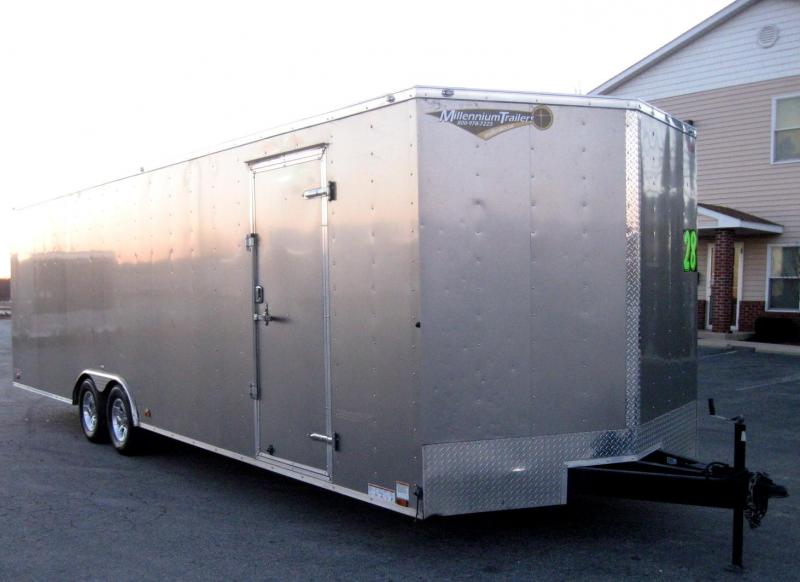 USED 2017 28 Cargo Mate E-Series Trailer Aluminum Wheels & Extra Height