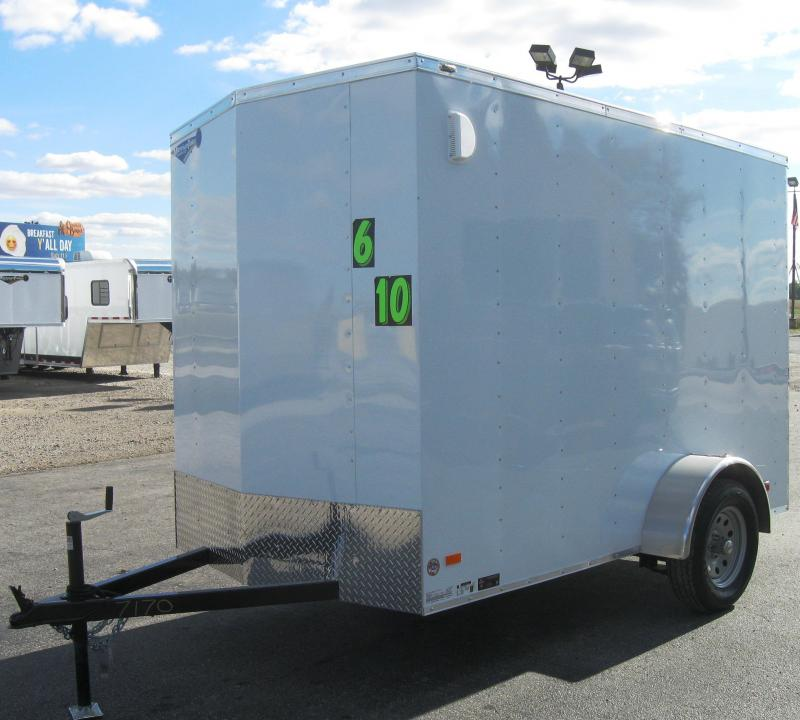 2018 6'x10' Scout Enclosed Cargo Trailer with Ramp Door