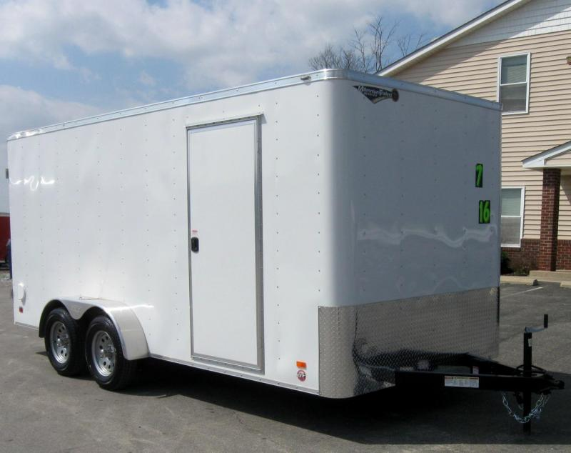 2018 7'x16' Scout Enclosed Cargo with Double Doors 6