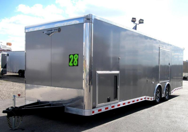 2019 28' NEW Millennium Extreme Race Trailer w/Red Cabinets & Wing