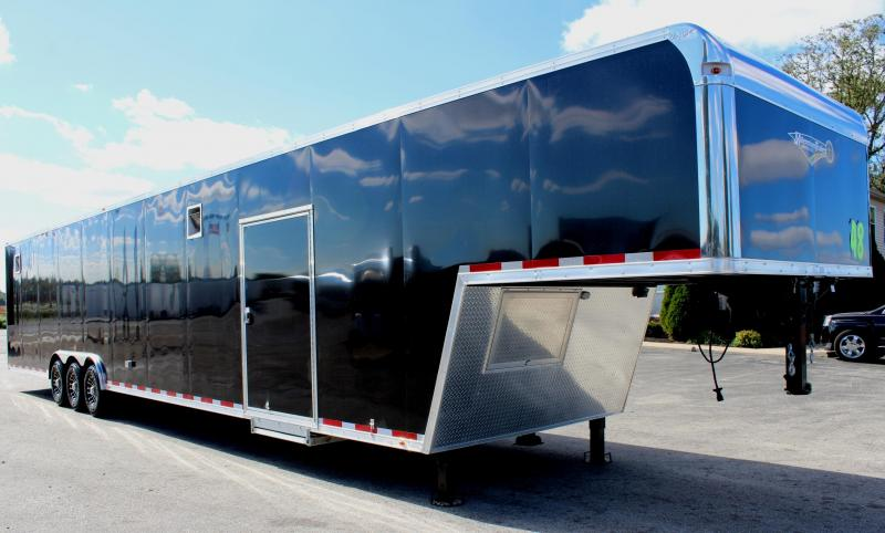 <b>MEGA DISCOUNT NOW $33999 SAVE $3970 </b> 2019 48' Millennium Platinum Gooseneck Race Trailer Perfect Price/Perfect Options