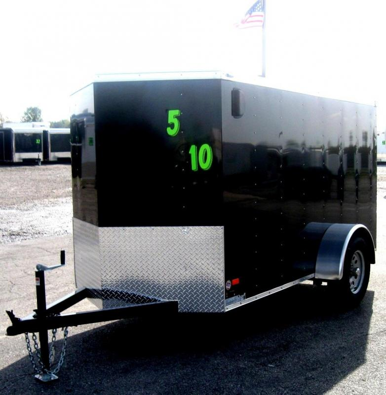 2018 5'x10' Scout Enclosed Cargo Trailer Ramp Door Free Upgrades