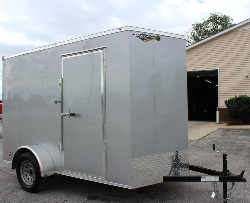 <b>FACTORY DEMO</b> 2019 6'x10' Hero Economy Cargo Trailer Ramp Door/ 6
