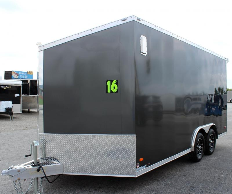 2020 8.5' x16' All Aluminum Frame Star Enclosed Trailer Torsion Axles HD Ramp Door