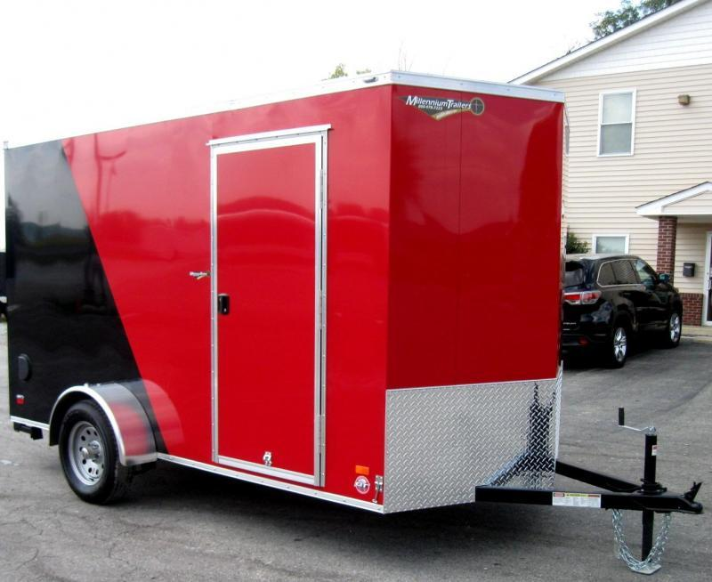 2018 6'x12' Scout Cargo Trailer w/Ramp Door & Plus Pkg & Free Upgrades