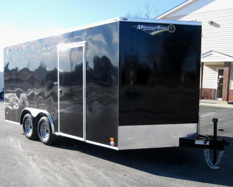 2017 8.5' x 16' V-Nose Scout Enclosed Cargo Trailer