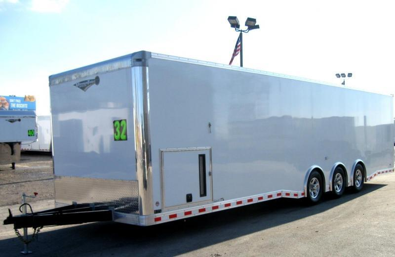 <b>Internet Special Save $3500 OFF MSRP N0OW $24999</b> 2019 32' Millennium Extreme Race Trailer Spread Axles 16
