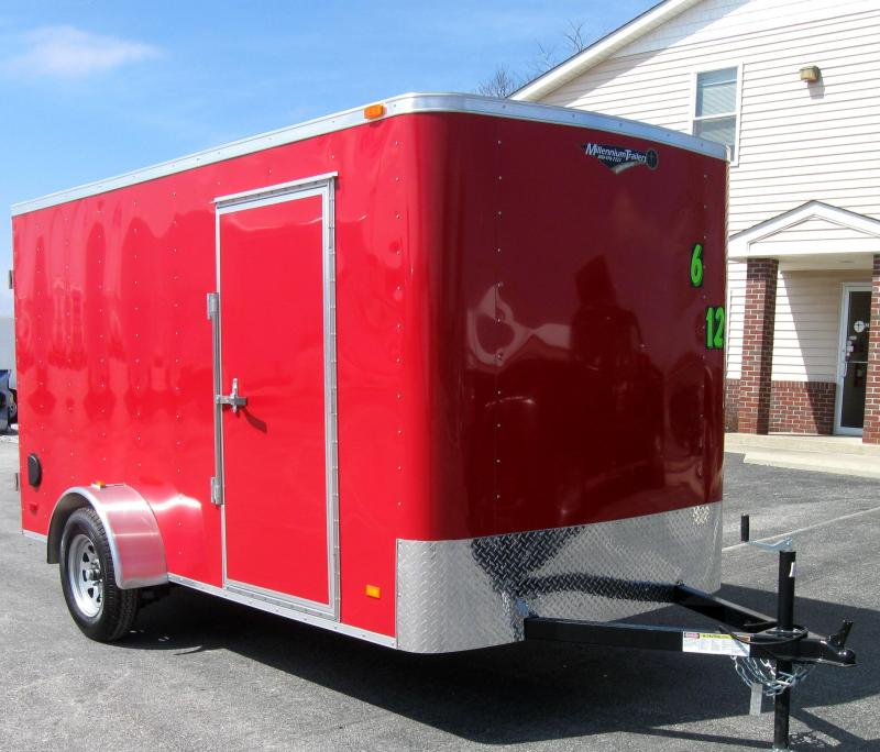 2018 6'x12' Hero Economy Enclosed Cargo Trailer with Double Doors