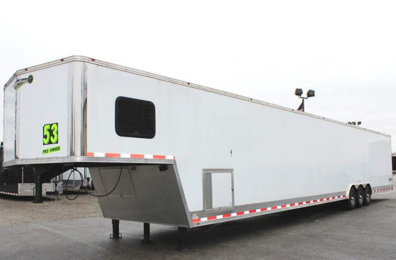 <b>PRE-OWNED & It is a 9! </b> 2018 53' Millennium Gooseneck Trailer A/C/90' E-Track/Hydraulic Jack/Extra Height