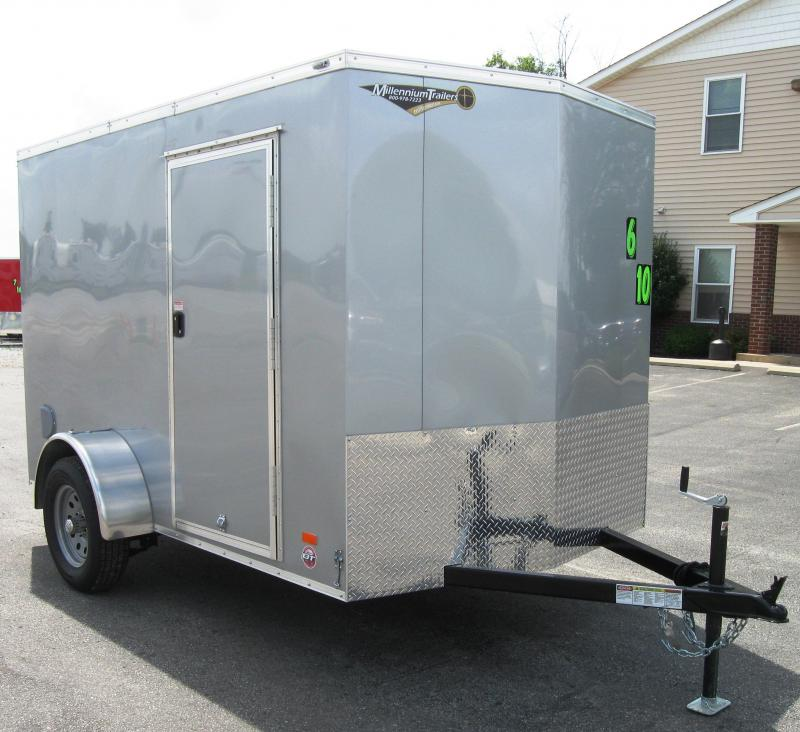 2017 6'x10' Scout Enclosed Cargo Trailer with Free Options