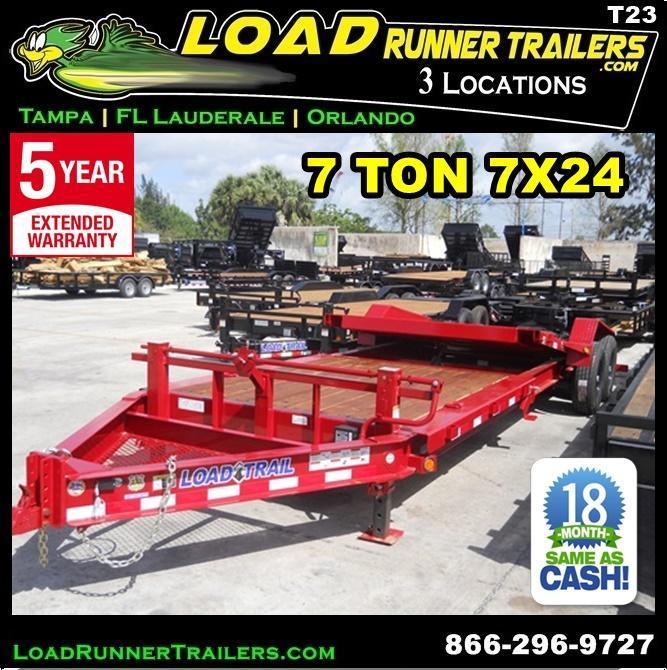 *T23* 7x24 7 TON Tilt Equipment Trailer 16' Title + 8' Flat 7 x 24 | T83-16+8T7-GT