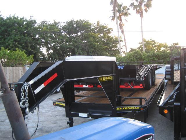 *F68* 8.5x40 10 TON Gooseneck Flatbed Deck Over Flatbed|Triple Ramps 8.5 x 40 | FG102-40T10-3FF