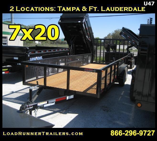 2017 Loadrunner Trailers Trailer U84-20T-2B-TR-2M Utility Trailer