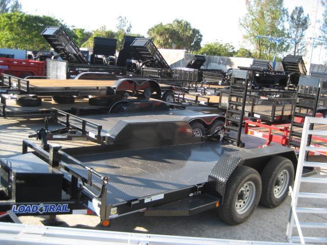 *H43* 7x14 Bobcat Equipment Hauler Trailer with Kicker Ramps 7 x 14 | BC80-14T7-SD/KR
