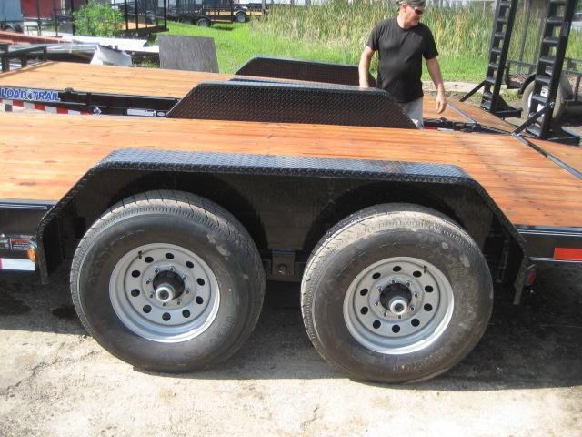 H95   7x20 7 TON Pintle Car Hauler w/ Removable Fenders   LR Trailers