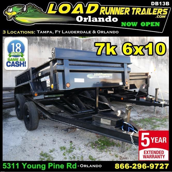 *DB13* 6x10 Load Trail Dump Trailer Tandem axle Trailers 6 x 10   D72-10T3-24S