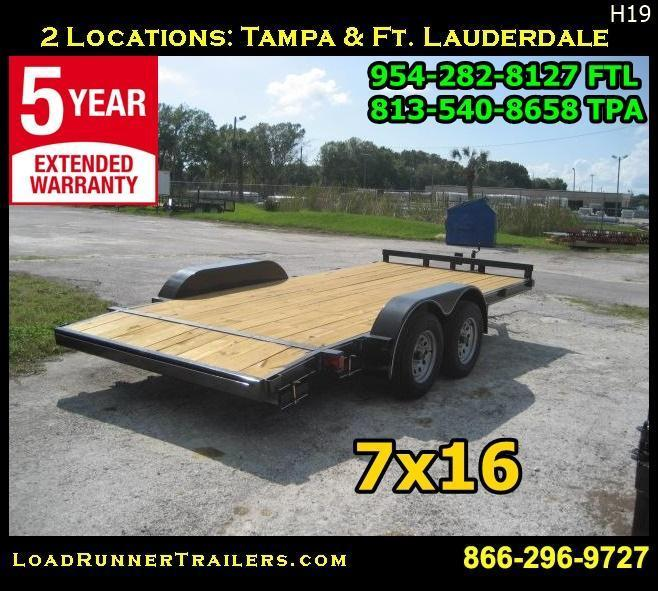 *H19* 7x16 Car Hauler Trailer With Electric Brakes 7 x 16 | CH82-16T3-1B