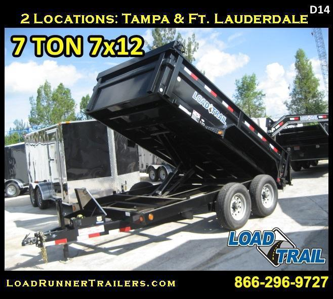 *D24D* 7x14 7 TON Load Trail Dump Trailer Dumps & Trailers 7 x 14 | D83-14T7-24S